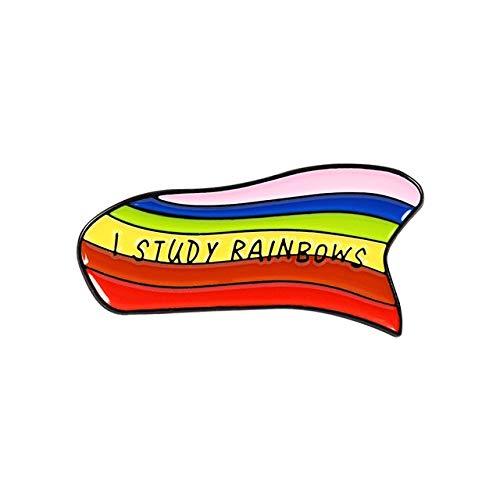 WEHONG Orgullo Arco Iris Forma De Coraz¨®n Pin Esmaltado Insignias Gay Arco¨ªris Broches Ropa Bolsas Pines De Solapa Joyer¨ªa De Moda Regalos???Estilo 4
