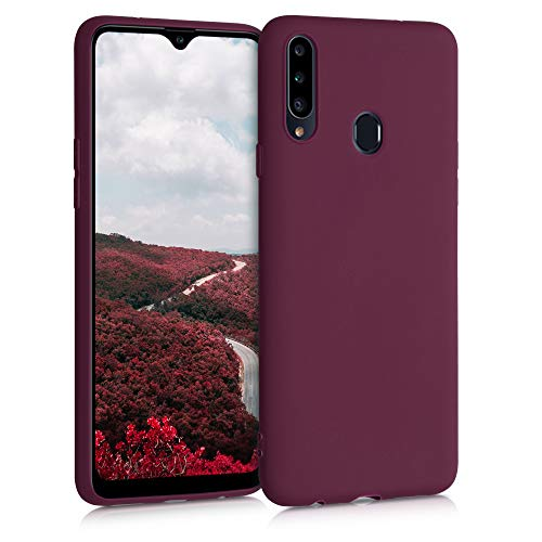 kwmobile Hülle für Samsung Galaxy A20s - Hülle Handyhülle - Handy Hülle in Bordeaux Violett