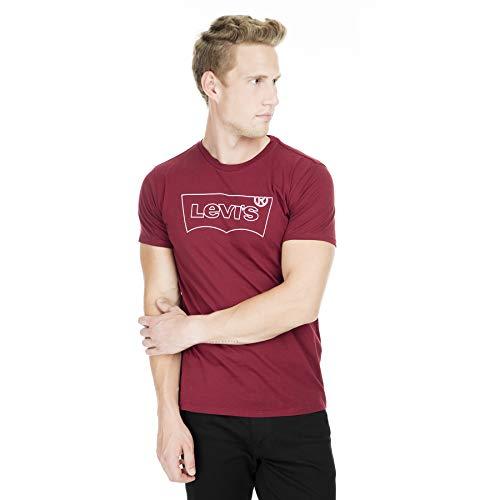 Levi's Housemark Graphic Tee T-Shirt, HM Outline Cabernet, S Uomo
