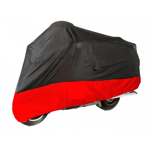 Motorcycle Cover For Kawasaki KLV 1000 / Black Red Motorcycle Cover L