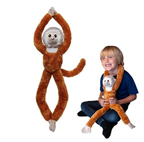 Árbol Huggers, mono de EcoBuddiez de ardilla que cuelga el juguete suave (los 72cm) - juguete suave y mimoso de la felpa de Deluxebase. Hecho de las botellas plásticas recicladas. Regalo mimoso perfec