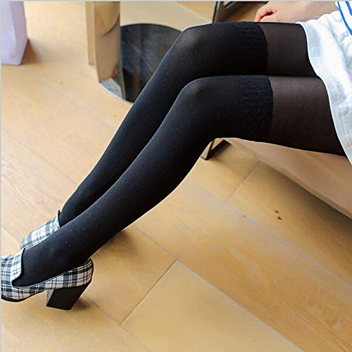 LIZANAN Sheer señora de Las Mujeres Medias Femeninas del Remiendo del Tatuaje Caliente de Patas Panti Invierno Nueva Legging Moda (Color : Black, Size : One Size)