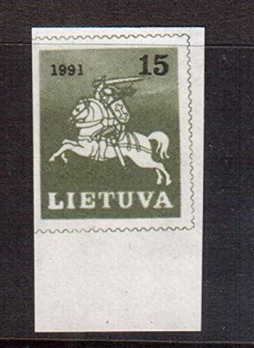 FGNDGEQN Colección de Sellos Lituania 1991 Blanco Knight / No Toat 1
