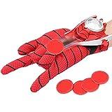 POXIAO Guantes lanzadores para Spider-Man, Guantes de plástico para Cosplay para niños, Juego de Jug...