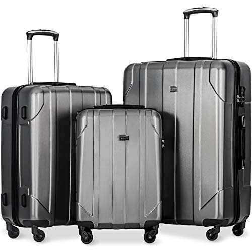 Merax 3 Piece P.E.T Luggage Set Eco-friendly Light Weight Spinner...