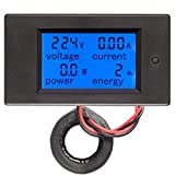 HiLetgo AC80-260V 0~100A LCD Voltage Current Power Energy Meter Multi Ammeter Voltmeter