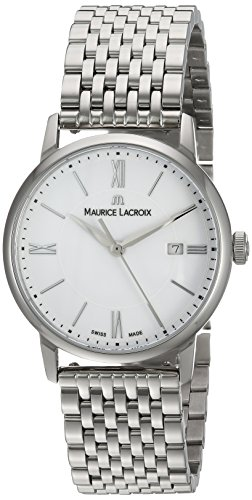 Maurice Lacroix Damen Analog Quarz Uhr mit Edelstahl Armband EL1094-SS002-110-1