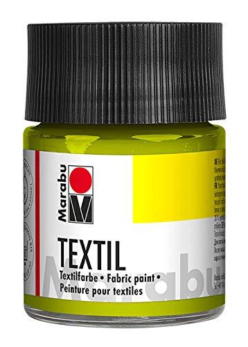 Marabu Textil Bocal 50 ML, Peinture, Tissu, Pistache, 5 x 5 x 7.7 cm