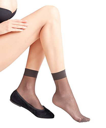 FALKE Seidenglatt Damen 15 DEN W SO Socken, Grau (Anthracite 3529), 39-42 (UK 5.5-8 Ι US 8-10.5)
