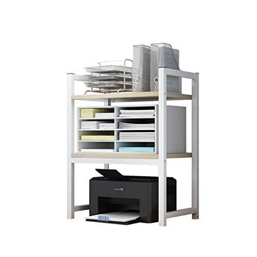 Soporte de ordenador Imprimir rack Oficina de escritorio Copiar documento estante multi-capa de almacenamiento en rack multifuncional Hogar Organizador de escritorio estante para Máquina de Fax,Escáne