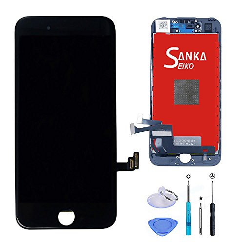 SANKA Schermo Display LCD Screen Replacement Sostituzione Schermo per iPhone 7-Nero