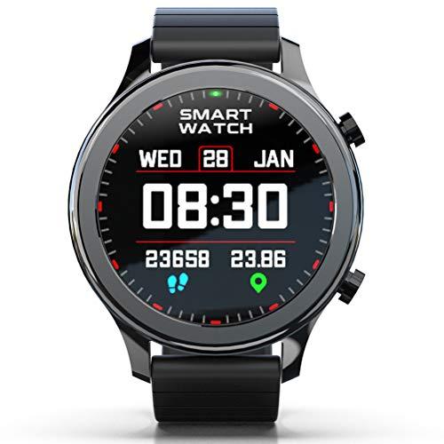Time Smartwatch, Reloj Inteligente Deportivo De Moda con Función De Monitoreo De ECG PPG HRV para Todo Clima para Mejorar El Temperamento,Negro