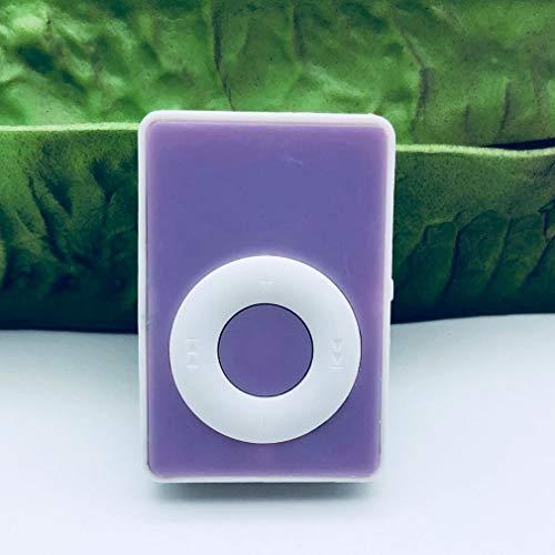 CandyTT MX-307 Mini C Tipo USB Clip de Metal Ranura para Tarjeta Micro SD TF Reproductor de MP3 de música Reproductor Multifuncional (púrpura)