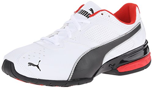PUMA Tazon 6 Sly JR Sneaker (Infant/Toddler/Little Kid/Big Kid) , White/Black/PUMA Silver, 7 M US Big Kid