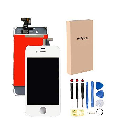 Skiliwah® - Vetro Touch Screen di Ricambio per iPhone 4S + Display LCD su Chassis, Colore: Bianco