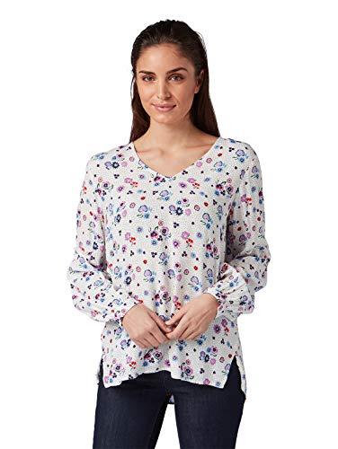 Preisvergleich Produktbild TOM TAILOR Damen 1008064 Bluse,  Weiß (White Floral Design 15677),  (Herstellergröße: 38)