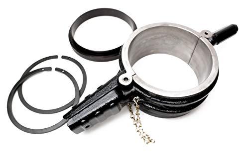 Ferrum Tools Cummins ISX Caterpillar 3400 CAT C15 Piston Ring Compressor Tool and Anti-Polishing Ring Adapter Set for 5.4 in Bore 5299448 PT-7040 Alternative
