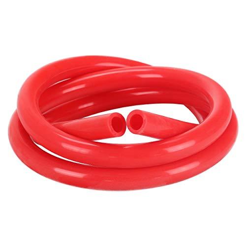 Rauch dein Obst | Shisha Silikonschlauch | 150 cm | leichte Reinigung | lebensmittelechtes Silikon | inkl. Sticker in Carbon-Optik (Rot)