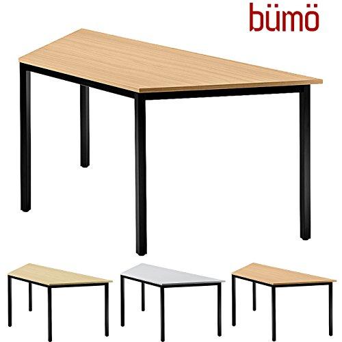 BÜMÖ Konferenztisch | Besprechungstisch für das Büro | Schreibtisch in 3 Farben & 4 Größen verfügbar | Büroschreibtisch (Buche, L = 160 cm...