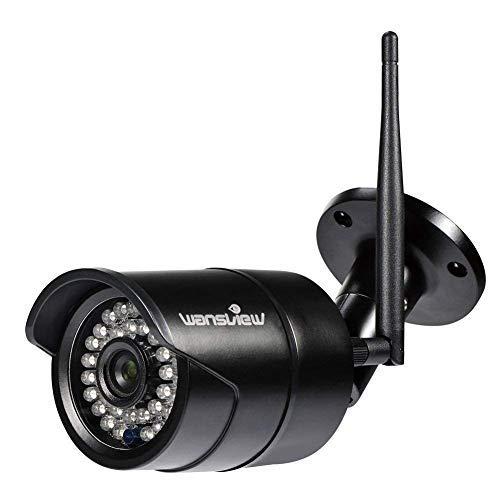 Wansview 1080P FHD Caméra Surveillance WiFi Extérieur,Caméra IP Sécurité sans Fil, Etanche IP66 / Vision Nocturne, Alerte de Détection de Mouvement W2 (Noir)