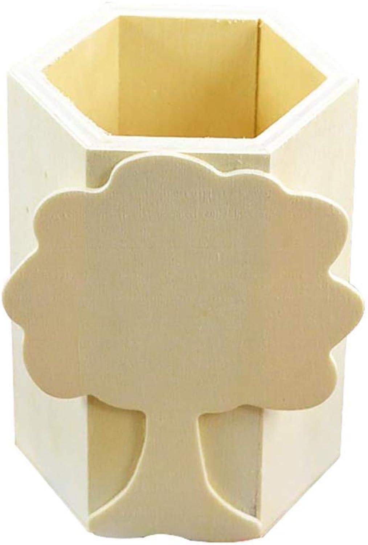 Holz Stifthalter Handwerk Dekoration Liefert Büro Lagerung Stift Topf Multifunktions-wc-rack Aufbewahrungsbox Glatte Kanten sind kinderfreundlich 1 STÜCKE Langlebig und Nützlich Ogquaton B07NVG2BCT | Vogue