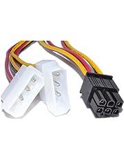 TrueWay 6 Pines PCI Express Energía Adaptador Cable a 2 x Molex LP4 Cable
