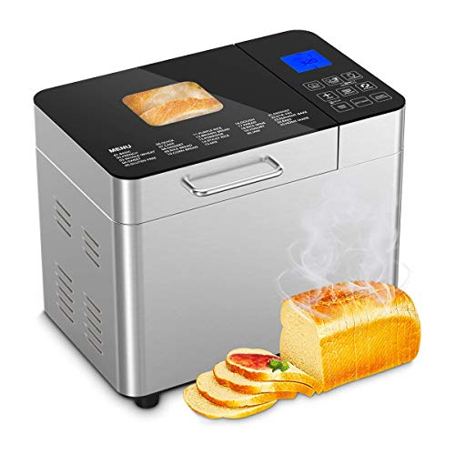 Best Prices! HXXXIN Bread Maker, Pound Stainless Steel Programmable Bread Maker, Gluten-Free Setting...