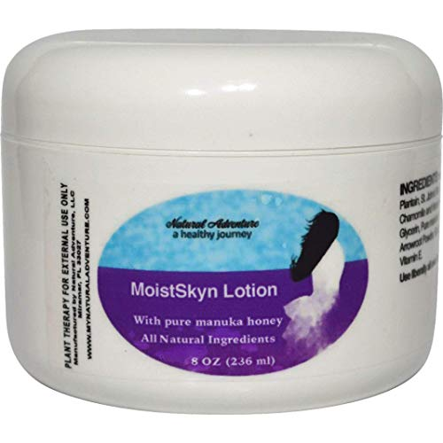 MoistSkyn Moisturizing Eczema Lotion with Pure Manuka Honey for Use as a Daily Skin Moisturizer and Best for Soothing & Preventing Flare-ups. Hand Made in The USA with All Natural Ingredients.