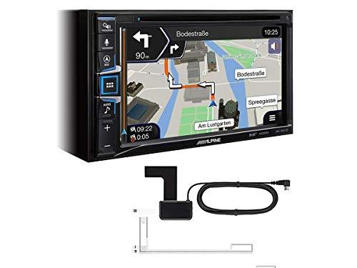 Alpine INE-W611D 2 DIN Navi mit DAB inkl Antenne kompatibel mit Apple Car Play und Andoid Auto passend für Toyota Auris ab 2013 Klavierlack schwarz