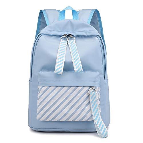 Alvnd contrasterende kleur canvas De tiener grote waterdichte tas van nylon voor de vrije tijd van het schooljaar met grote capaciteit