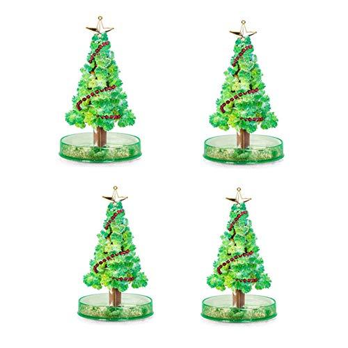 SJTL 4 pcs, Decoraciones Navidad, Kit De Bricolaje Árbol, Flor de áRbol De Papel, áRbol de Papel MáGico, Ornamentos Desmontables, Regalos Colgantes de Navidad de la Pared para Las,A