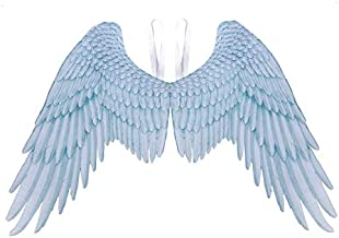 Wings Halloween Mardi Gras Cosplay Wedding Costume Props Pretend Play Dress Up Costume Accessory Unisex Angel and Devil Wings United States White