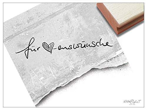 ZAcheR-fineT Stempel, tekst stempel, voor hartjes, in handschrift, letterstempel, felicitatie, kaarten, voucher, cadeauhanger, cadeau-decoratie,