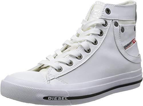 Diesel Damen Magnete Exposure IV Mid Hohe Sneakers, Weiß (White T1003), 41 EU