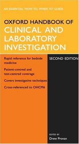 Oxford Handbook of Clinical and Laboratory Investigation (Oxford Handbooks Series)