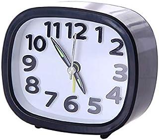 HSXOT Mini Reloj Despertador Rectangular Cama Pequeña Compacto Cuarzo Zumbador Reloj Despertador Lindo Portátil 2