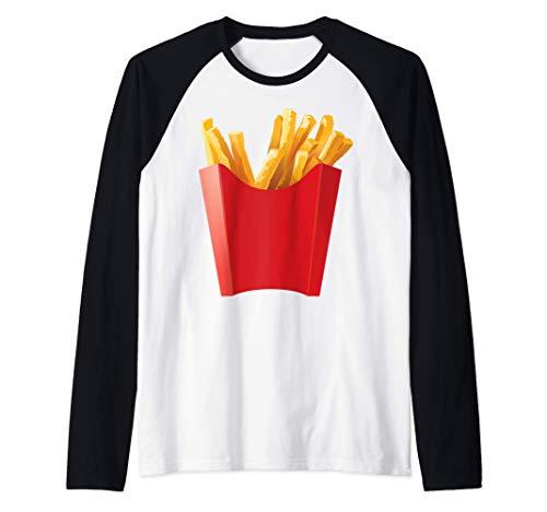 La camisa GIGANTE DE PATATAS FRITAS es un gran disfraz de Camiseta Manga Raglan