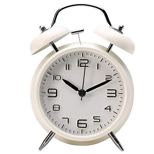 Vintage Reloj Despertador de Doble Campana con Sonido Fuerte, sin tictac, Alarma Despertador Silencioso Analogico Despertadores de Viaje para Infantil Juvenil Niña