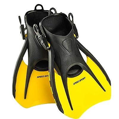 Phantom Aquatics Sport Snorkel Fins, Adjustable Travel Size Adult Swim Fins