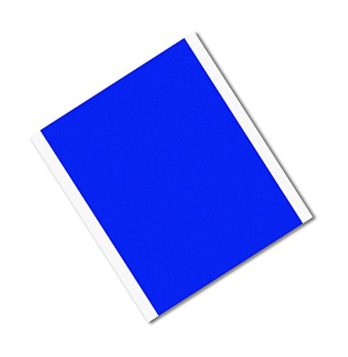 TapeCase 8905-20,3 x 23,9 cm, 25 Stück, blaues Polyester/Silikon-Klebeband, umgewandelt von 3M 8905, Rechtecke, 400 Grad F, 23,9 cm Länge, 20,3 cm Breite, 25 Stück