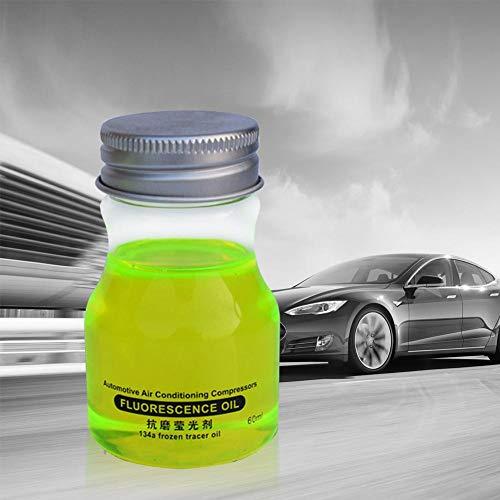 succeedw 60 ml Fluoreszierendes Öl UV-Farbstoff-Lecksucher-Testmittel Reparaturwerkzeug für Kfz-Klimaanlagen für die Reparatur von Klimaanlagen-Pipelines