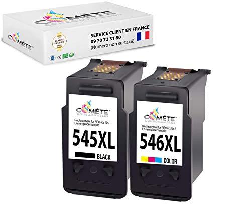 Comete - Cartuchos de tinta compatibles con Canon 545 545XL PG545XL BK545 para impresoras PIXMA MG2450 MG2250s MG2950 MG3050 MG3200y TR4550y TS315 - 2 Cartuchos negro