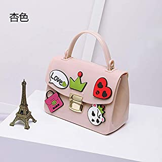 Adebie - Flap Summer Shoulder Bags Sweet Jelly Cartoon Women Cute High Quality Handbags Famous Brand Small 2019 Crossbody Messenger Bags Apricot []