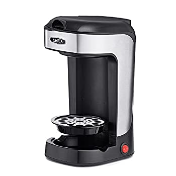 BELLA One Scoop One Cup Coffee Maker Brew in Minutes Dishwater Safe Black and Stainless Steel Great for Small Kitchens
