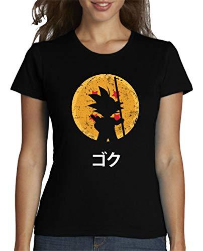 The Fan Tee Camiseta de Mujer Dragon Ball Goku Vegeta Bolas de Dragon Super Saiyan 064 XL
