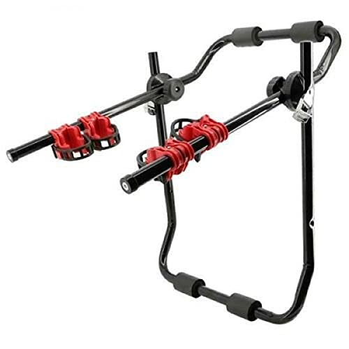 AutoTrends 3 Bike Bicycle Cycle Deluxe Rear Mount Car Rack Carrier Universal Fitting Saloon Hatchback SUV