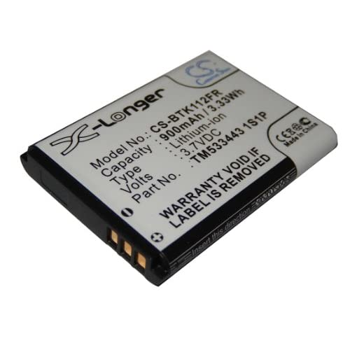 Batteria vhbw per Auricolari Bluetooth vivavoce Blaupunkt BT Drive Free 111, 112, 211, 311 e Callstell BFX-300 come TM533443 1S1P 900mAh (3.7V)