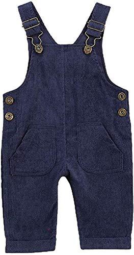 Carolilly Mono de beb con botones y pantalones anchos de color liso con bolsillos, completo con hebilla ajustable turquesa 0-6 Meses