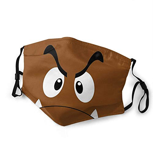 Face Scarf Goomba Personalized Anime Soft Unisex Cycling Sunscreen Mouth Scarf Mouth Shield Windproof Washable Travel Face Protection With 2 Filters Reusable Adjustable Cozy Face S