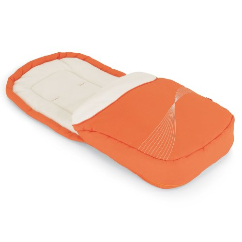 Herlag H9527-2220 Fußsack für Buggy Ravenna, orange/creme